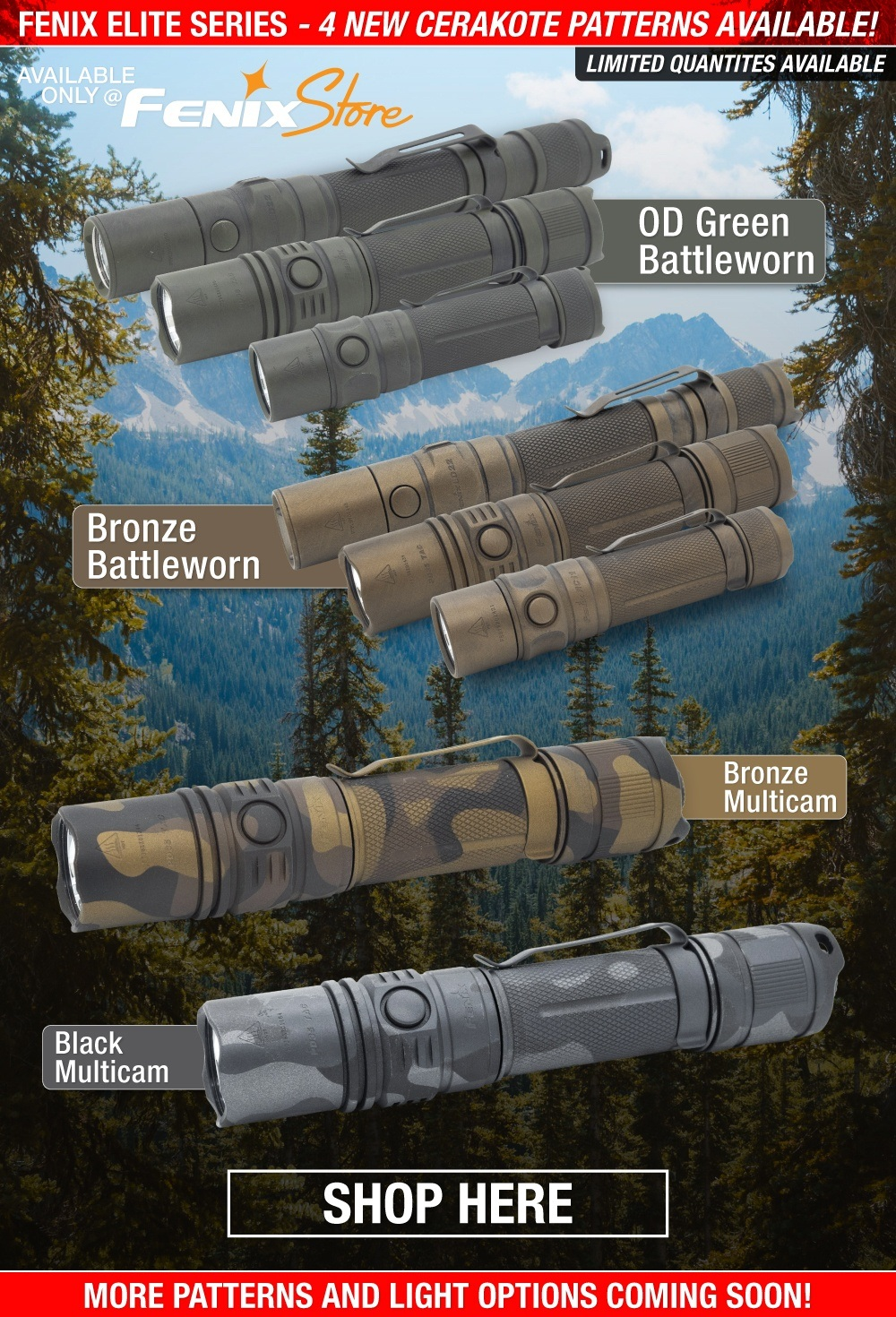 Fenix Elite Series LED Tactical Flashlights