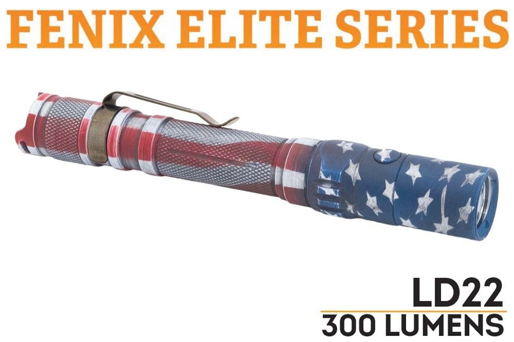 Fenix LD22 LED Flashlight - Patriot Finish - Fenix Flashlights