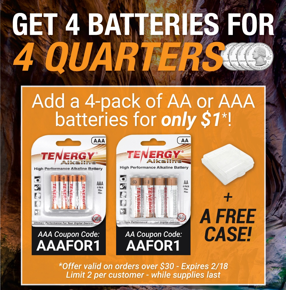 AA and AAA Battery for Only $1 Promotion!
