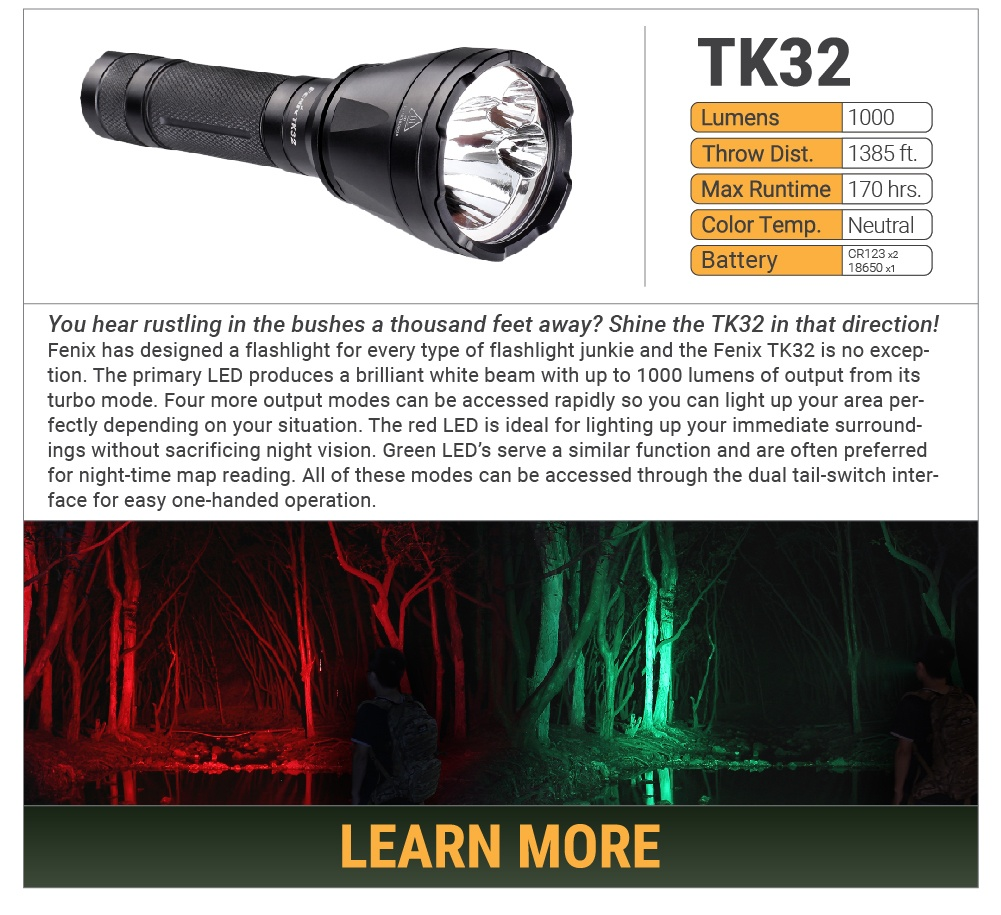 Fenix TK32 LED Flashlight