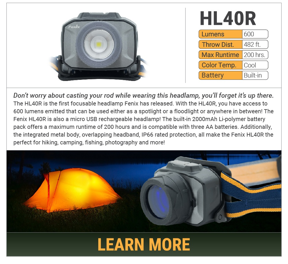 Fenix HL40R LED Focusing Headlamp