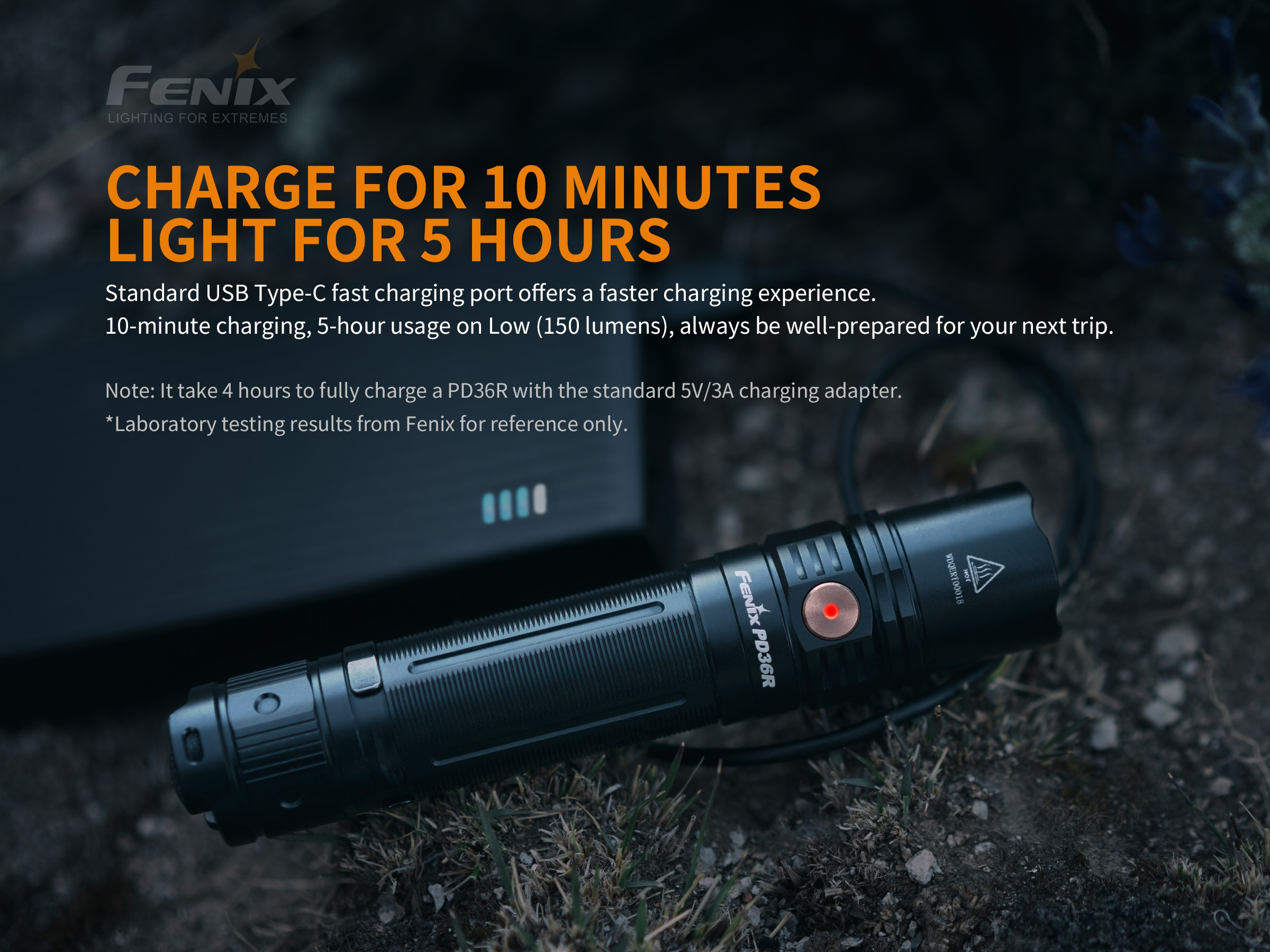 Fenix PD36R Rechargeable 1600-Lumen Tactical Flashlight