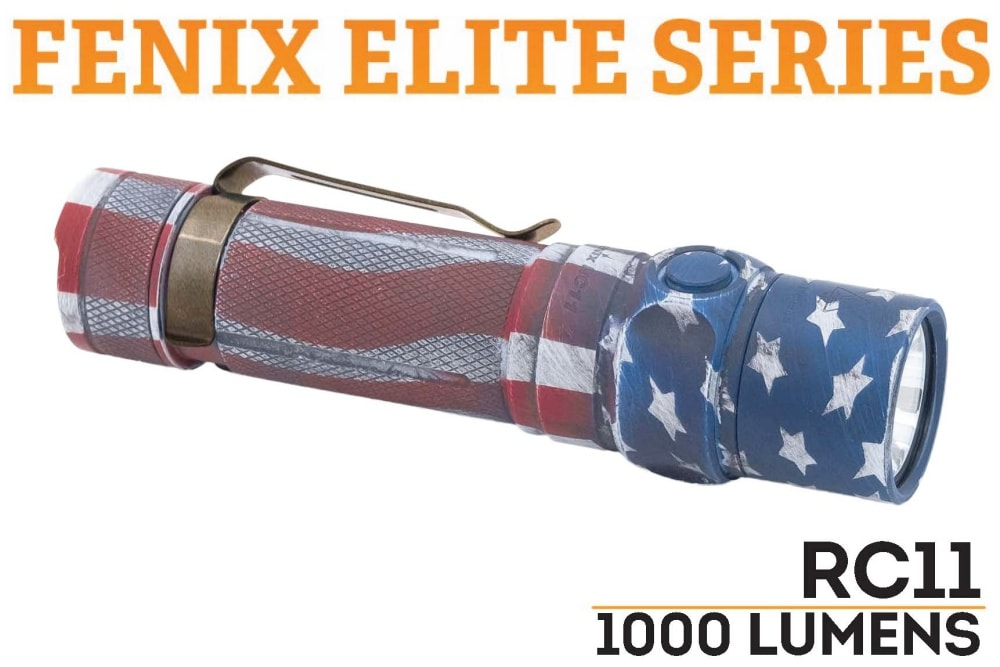 Fenix RC11 LED Rechargeable Flashlight - Patriot Cerakote Finish - Fenix Flashlights