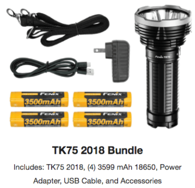 Fenix TK75 Deluxe LED Flashlight Bundle