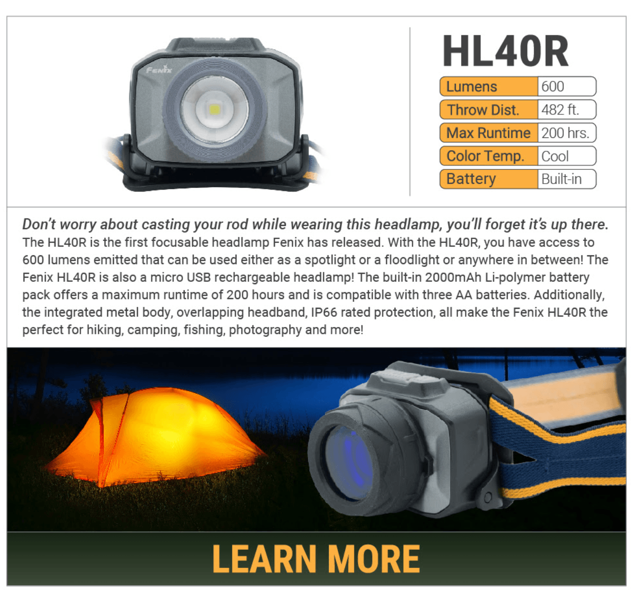 Fenix HL40R LED Headlamp