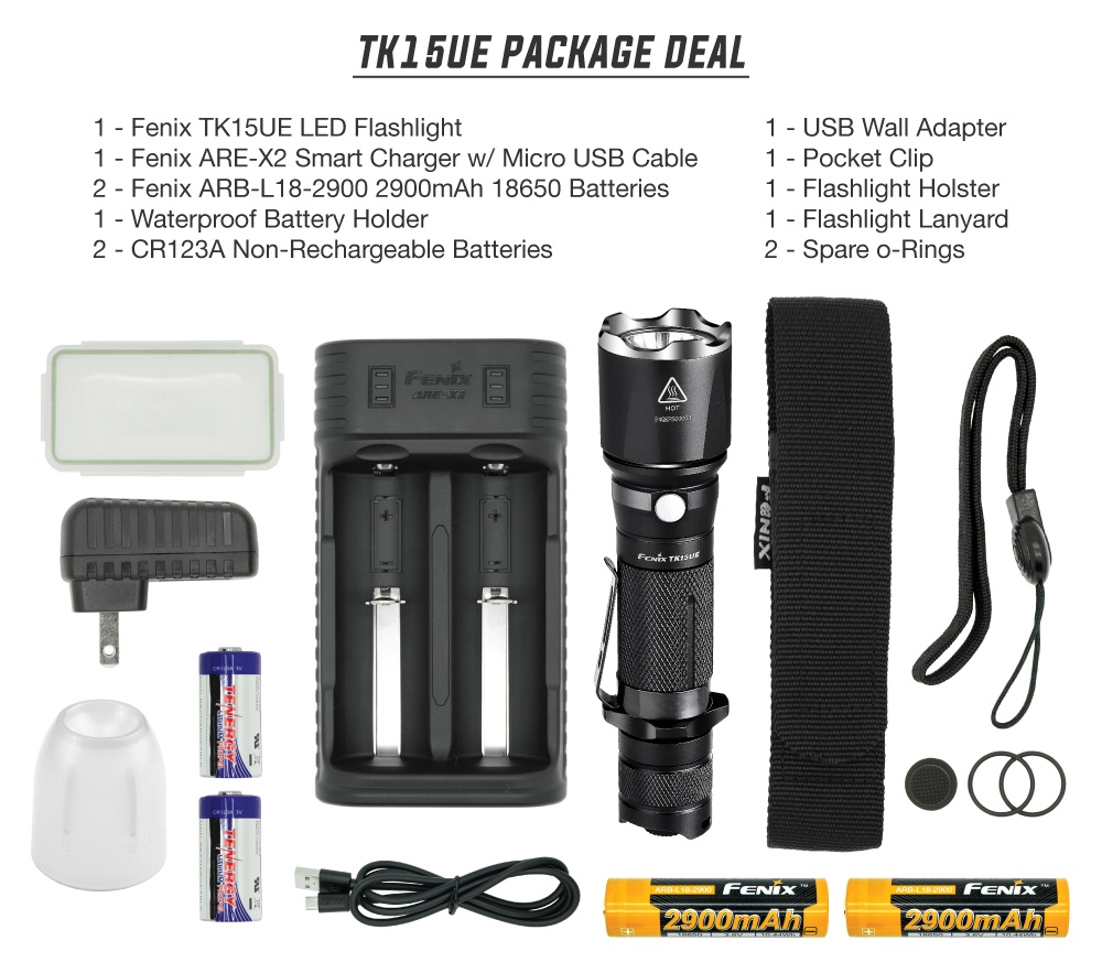 Fenix TK15UE LED Flashlight
