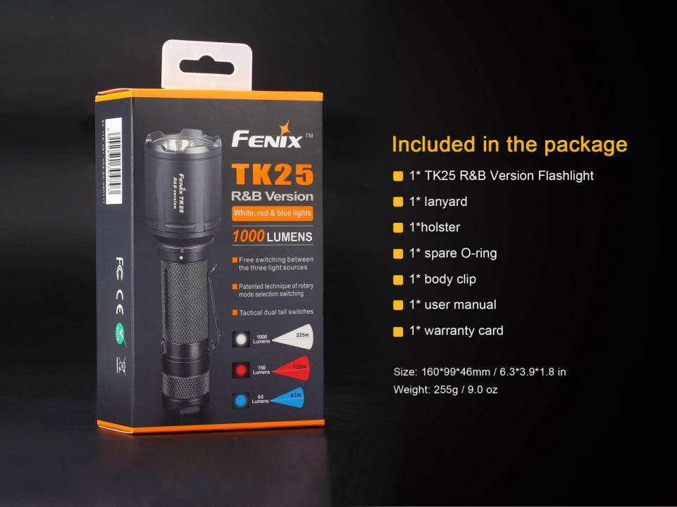 Fenix TK25RB Multi-Color Tactical LED Flashlight Box