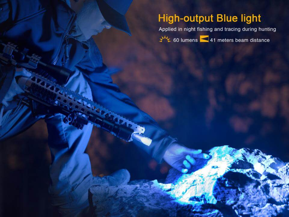 Fenix TK25RB Multi-Color Tactical LED Flashlight Blue LED