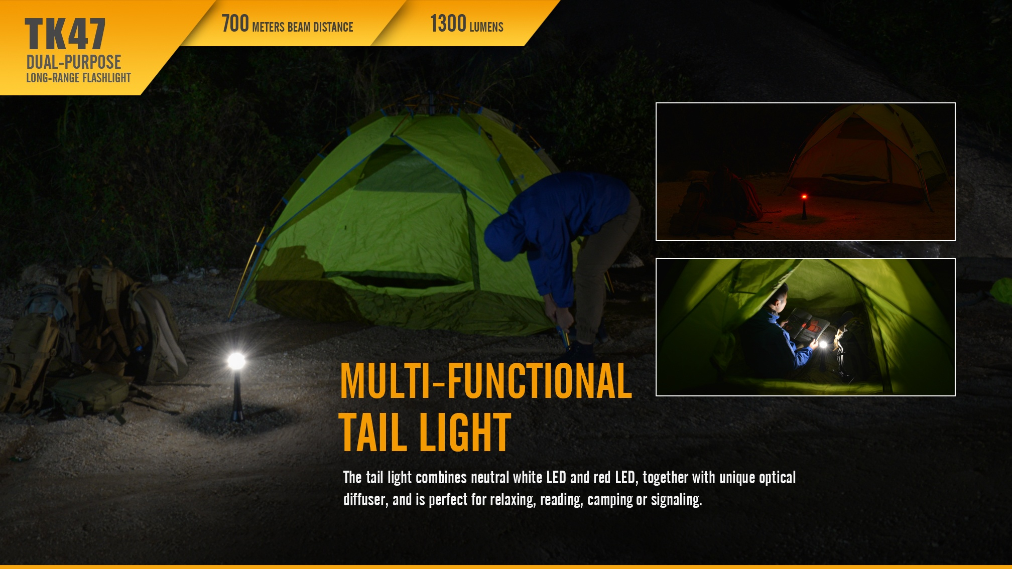 Fenix TK47 Dual-Purpose LED Flashlight Camping