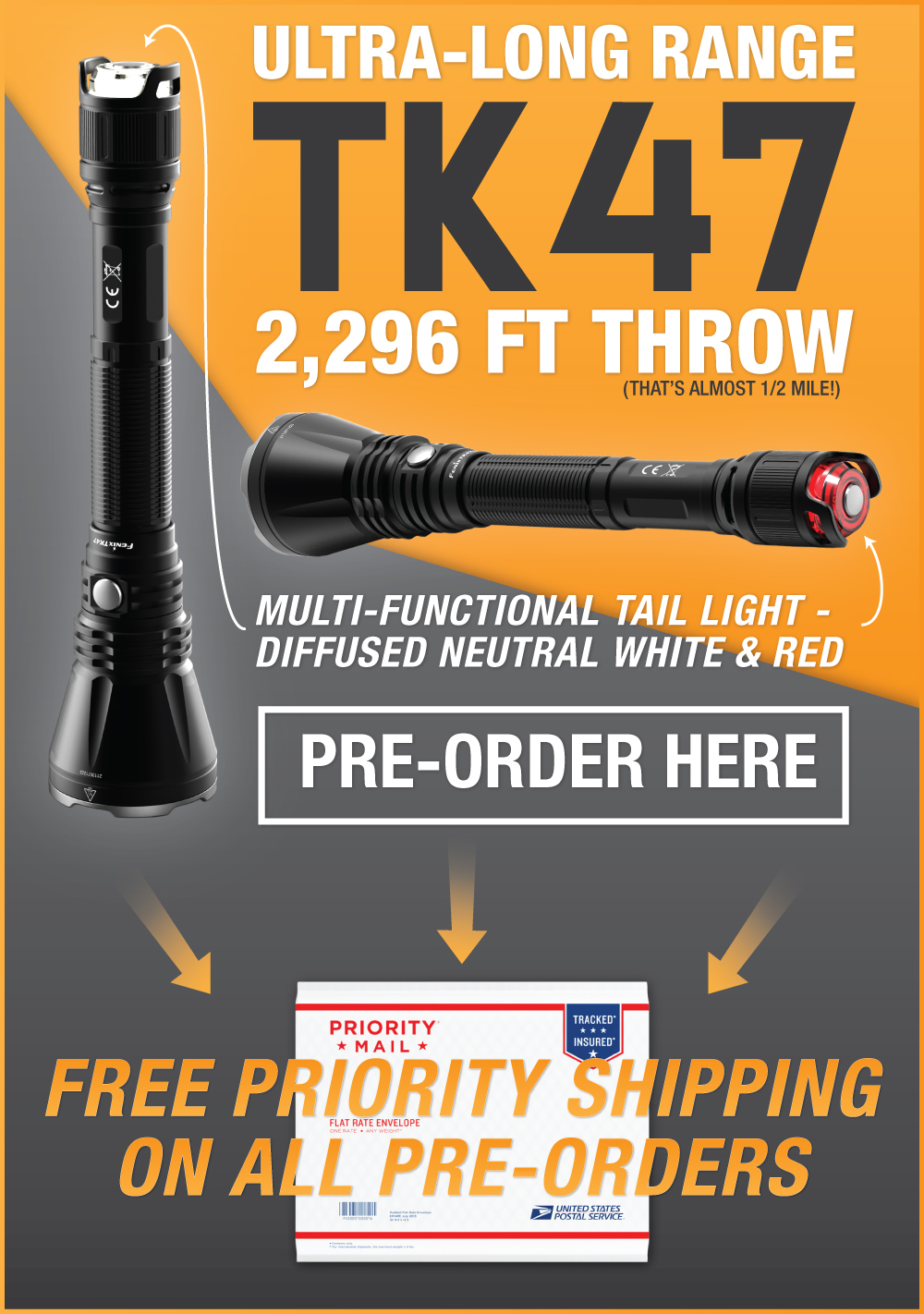 Fenix TK47 LED Flashlight
