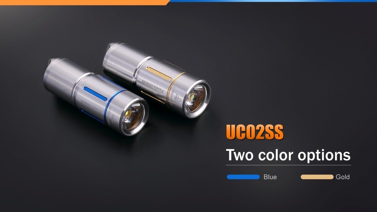 Fenix UC02 LED Flashlight Blue and Gold